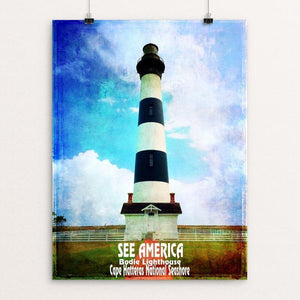 "Bodie Lighthouse, Cape Hatteras National Seashore by Bryan Bromstrup 12"" by 16"" Print / Unframed Print See America"