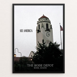 "Boise Depot by D.G. Thompson 12"" by 16"" Print / Framed Print See America"
