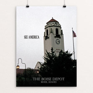 "Boise Depot by D.G. Thompson 12"" by 16"" Print / Unframed Print See America"