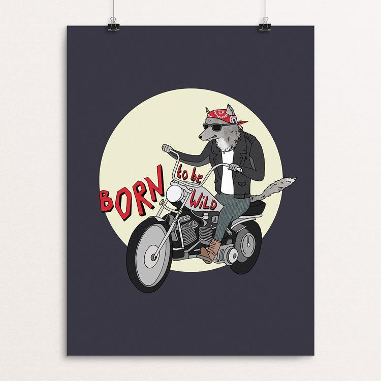 "Born To Be Wild by Naomi Sloman 18"" by 24"" Print / Unframed Print Join the Pack"