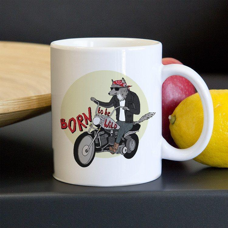 Born To Be Wild Mug by Naomi Sloman 11oz Mug Join the Pack