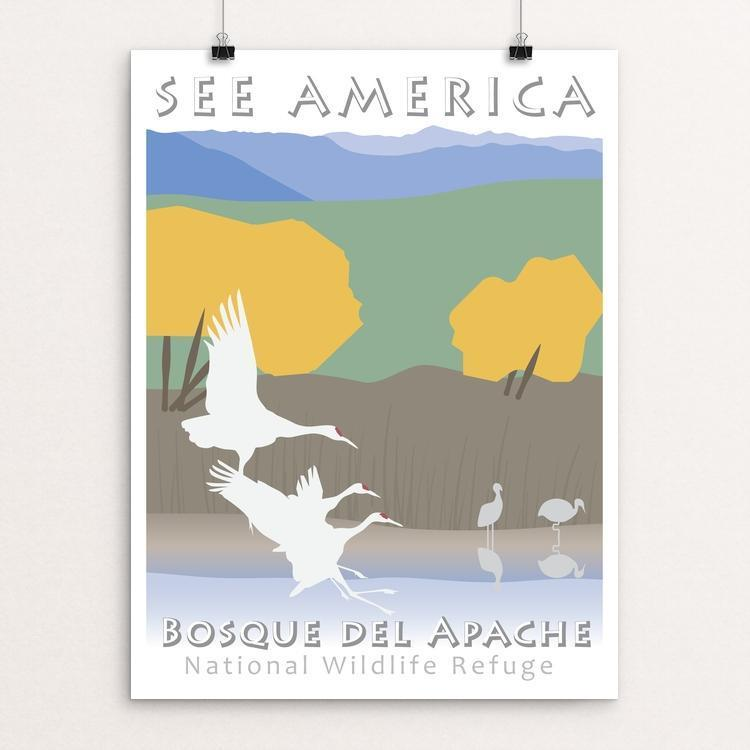 "Bosque del Apache National Wildlife Refuge by Karen Blaha 12"" by 16"" Print / Unframed Print See America"