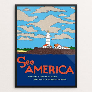 "Boston Harbor Islands National Recreation Area by Joshua Sierra 12"" by 16"" Print / Framed Print See America"