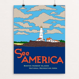"Boston Harbor Islands National Recreation Area by Joshua Sierra 12"" by 16"" Print / Unframed Print See America"