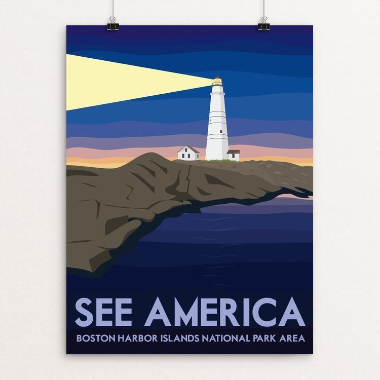 "Boston Harbor Islands National Recreation Area by Liz Cook 12"" by 16"" Print / Unframed Print See America"