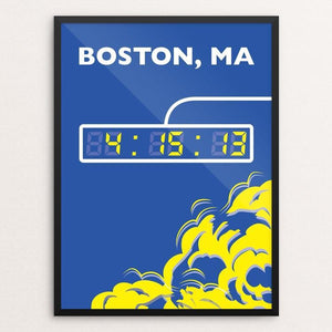 "Boston Marathon by Daniel Cataloni 18"" by 24"" Print / Framed Print Transcend - Moment in Sports that Changed the Game"