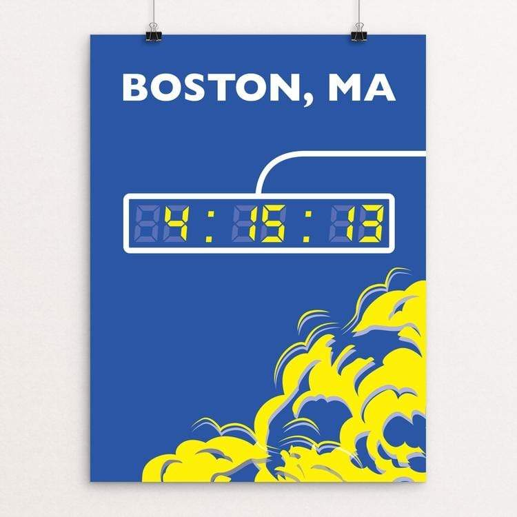 "Boston Marathon by Daniel Cataloni 18"" by 24"" Print / Unframed Print Transcend - Moment in Sports that Changed the Game"