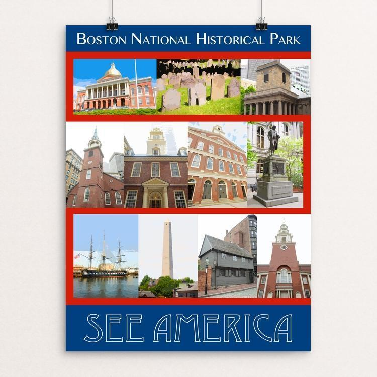 "Boston National Historical Park by Zack Frank 12"" by 16"" Print / Unframed Print See America"
