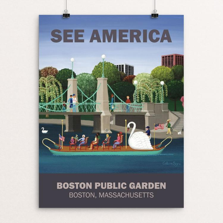 "Boston Public Garden by Colleen Sgroi 12"" by 16"" Print / Unframed Print See America"