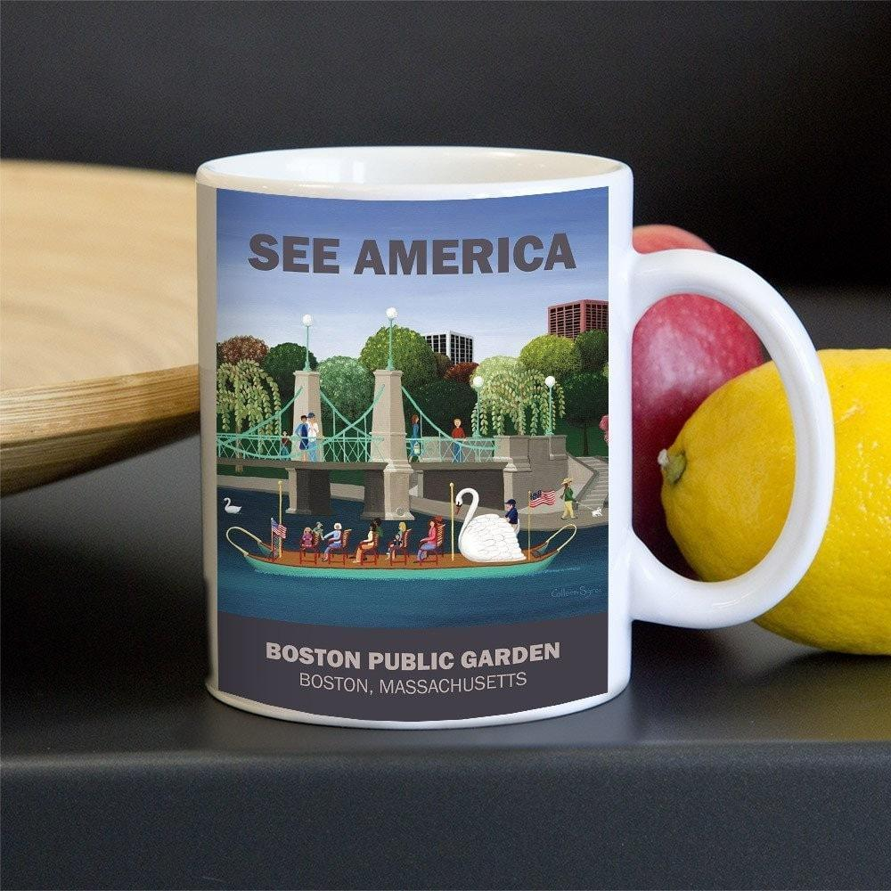 Boston Public Garden Mug by Colleen Sgroi 11oz Mug See America