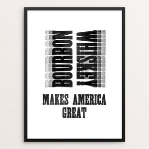 "Bourbon by Mister Furious 12"" by 16"" Print / Framed Print What Makes America Great"