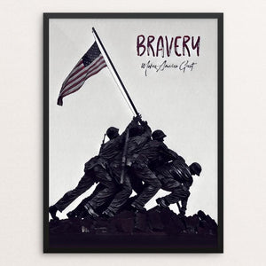 "Bravery by Bryan Bromstrup 12"" by 16"" Print / Framed Print What Makes America Great"