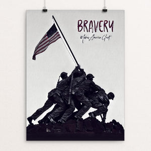 "Bravery by Bryan Bromstrup 12"" by 16"" Print / Unframed Print What Makes America Great"