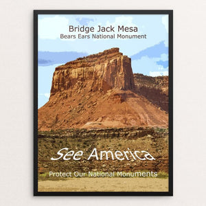"Bridge Jack Mesa, Bears Ears National Monument by Rodney Buxton 12"" by 16"" Print / Framed Print See America"