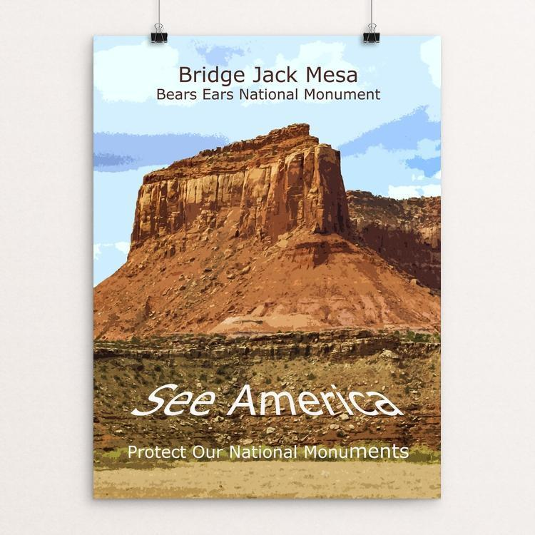 "Bridge Jack Mesa, Bears Ears National Monument by Rodney Buxton 12"" by 16"" Print / Unframed Print See America"