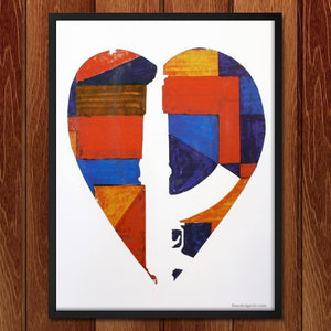"Broken Hearts Forever by Ed Rivera 12"" by 16"" Print / Framed Print The Gun Show"