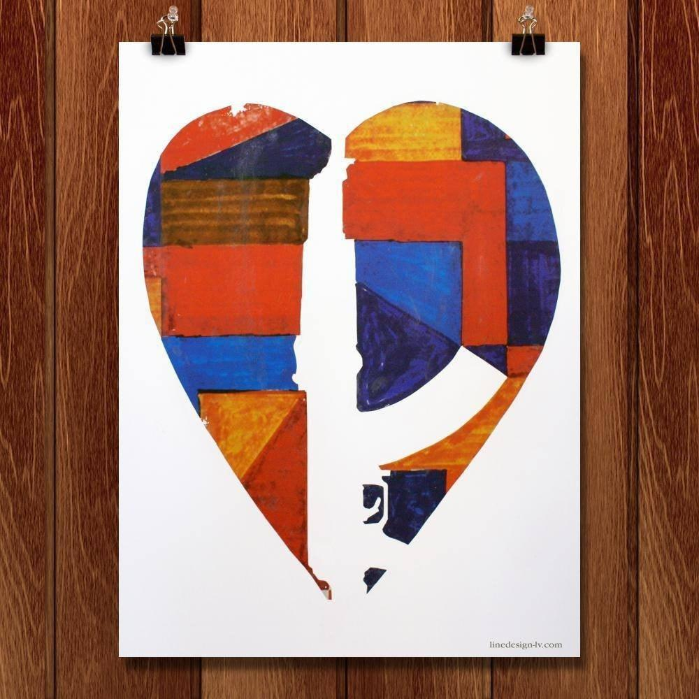 "Broken Hearts Forever by Ed Rivera 12"" by 16"" Print / Unframed Print The Gun Show"
