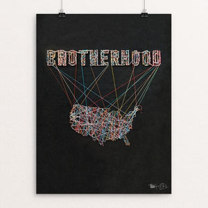 "Brotherhood by James Nesbitt 12"" by 16"" Print / Unframed Print What Makes America Great"