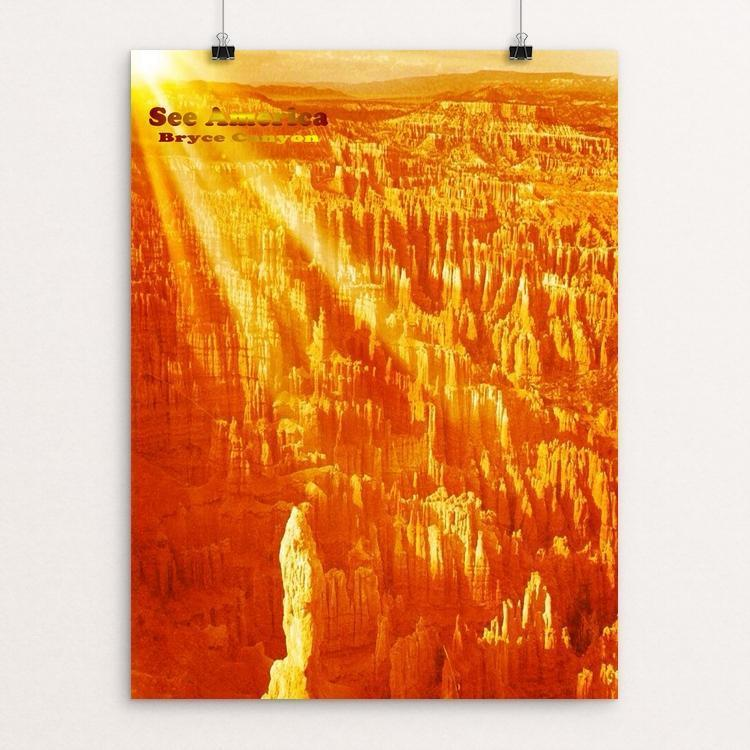 "Bryce Canyon National Park by Bryan Bromstrup 12"" by 16"" Print / Unframed Print See America"