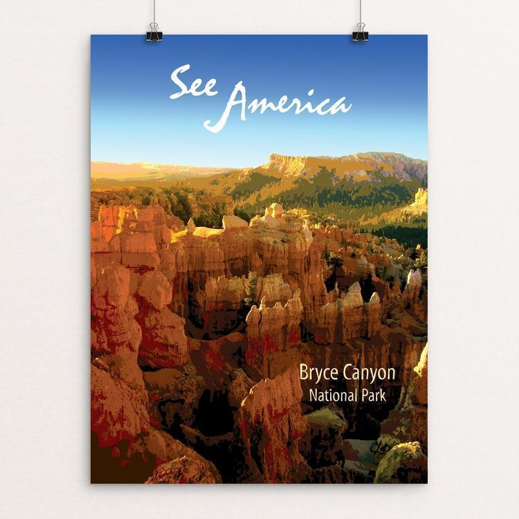 "Bryce Canyon National Park by Catherine LaBarre 12"" by 16"" Print / Unframed Print See America"