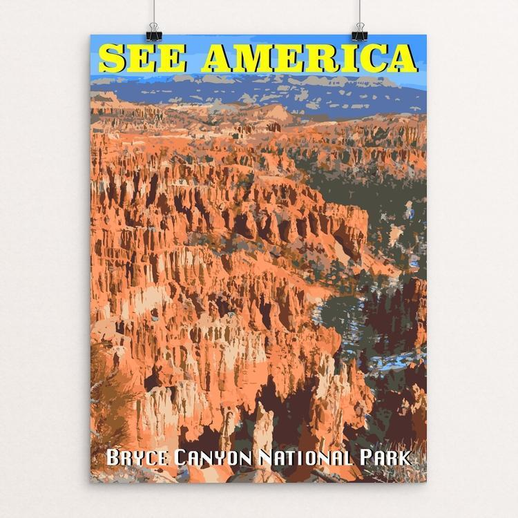 "Bryce Canyon National Park by Randall 18"" by 24"" Print / Unframed Print See America"