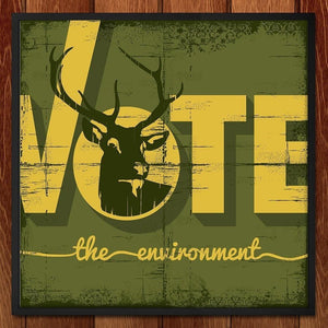 "Buck the Vote, Save the Environment by Scott Jesko 12"" by 12"" Print / Framed Print Vote the Environment"