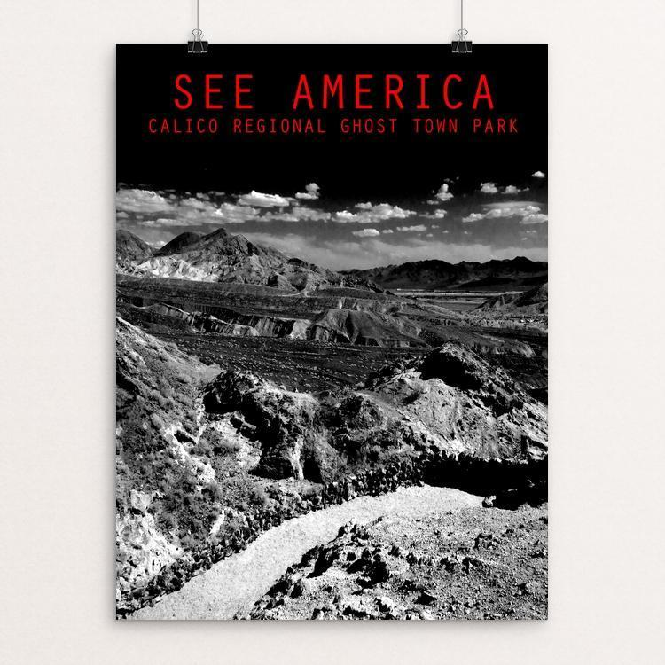 "Calico Ghost Town Regional Park 1 by Venom Vision 12"" by 16"" Print / Unframed Print See America"