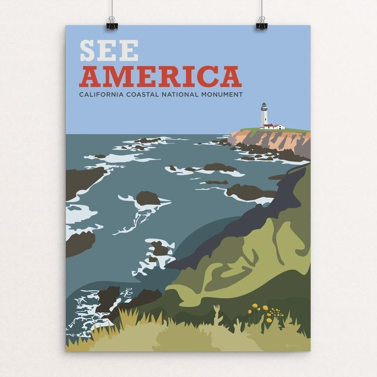 "California Coastal National Monument by Cabbage Creative 12"" by 16"" Print / Unframed Print See America"
