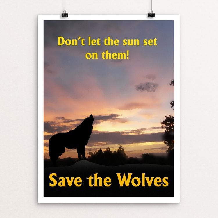 "Calling All Wolves by Harley Armentrout 12"" by 16"" Print / Unframed Print Join the Pack"