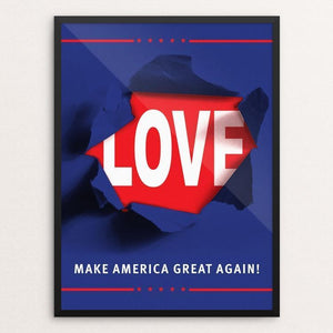 "CAMPAIGN by Mario Fuentes 12"" by 16"" Print / Framed Print What Makes America Great"