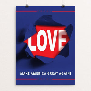 "CAMPAIGN by Mario Fuentes 12"" by 16"" Print / Unframed Print What Makes America Great"
