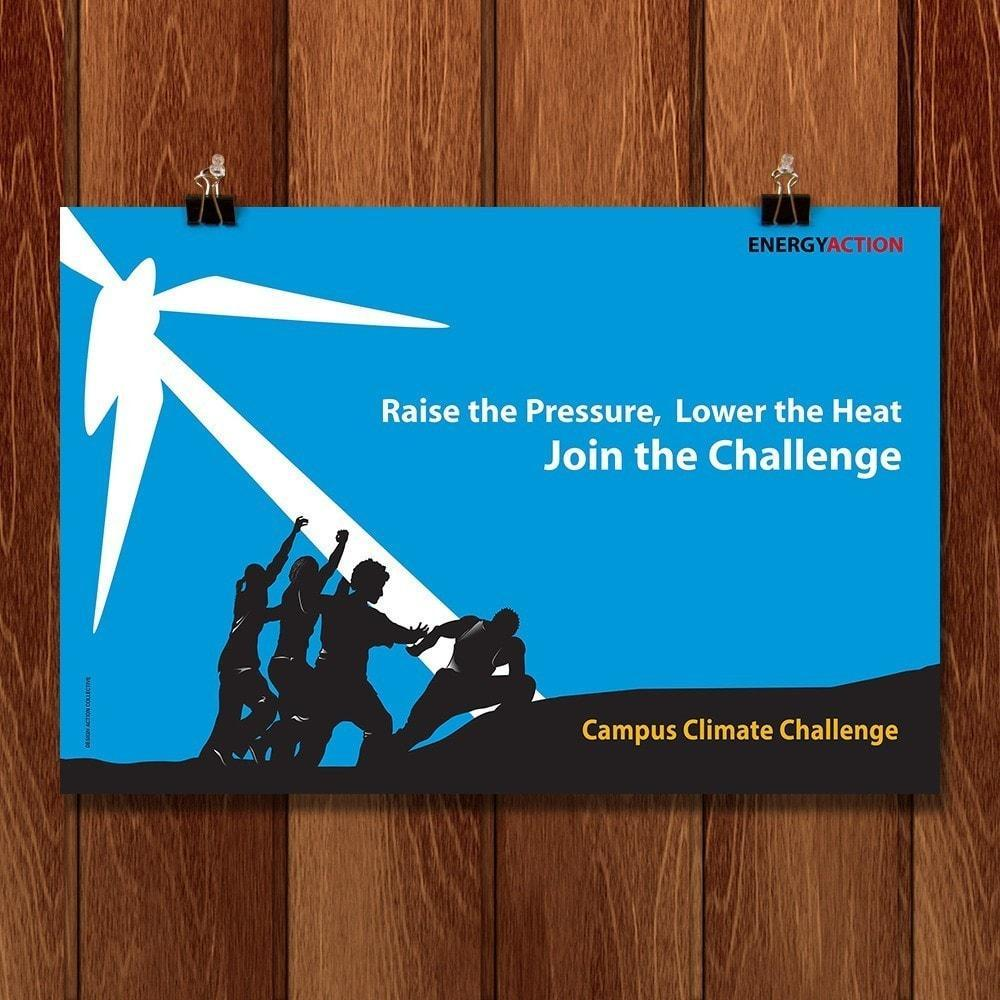 "Campus Climate Challenge by Design Action Collective 18"" by 12"" Print / Unframed Print Climate Victory"