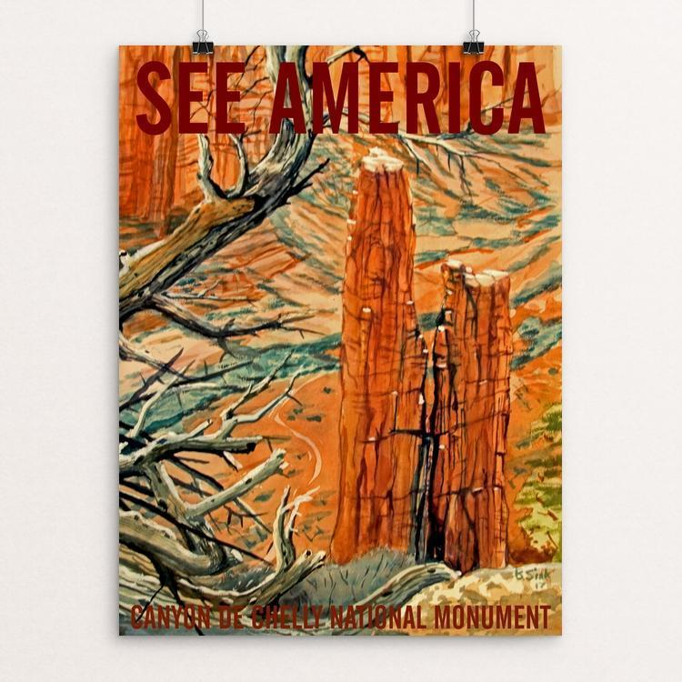 "Canyon de Chelly National Monument - Spider Rock by Bruce and Scott Sink 12"" by 16"" Print / Unframed Print See America"