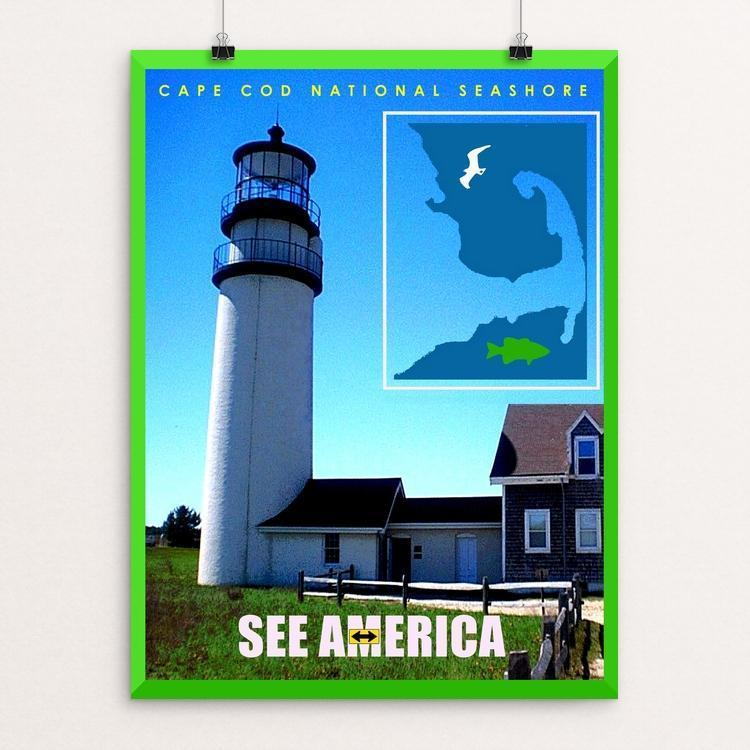 "Cape Cod National Seashore 3 by Bob Rubin 12"" by 16"" Print / Unframed Print See America"