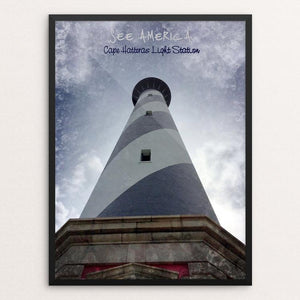 "Cape Hatteras Light Station 1, Cape Hatteras National Seashore by Bryan Bromstrup 12"" by 16"" Print / Framed Print See America"