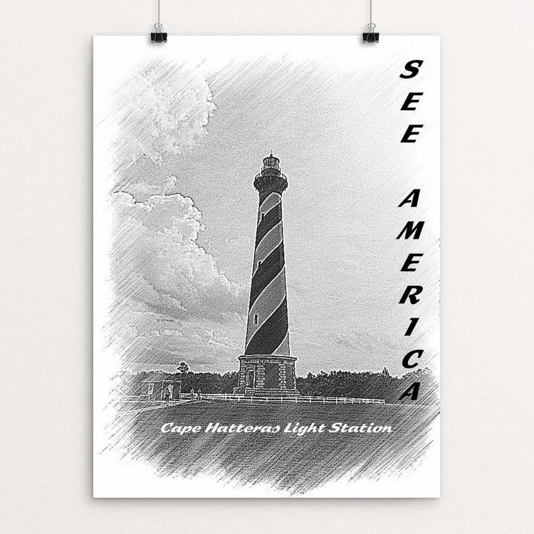 "Cape Hatteras Light Station 2, Cape Hatteras National Seashore by Bryan Bromstrup 12"" by 16"" Print / Unframed Print See America"