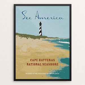 "Cape Hatteras National Seashore by Ed Gaither 12"" by 16"" Print / Framed Print See America"