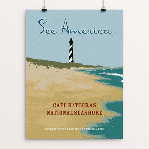 "Cape Hatteras National Seashore by Ed Gaither 12"" by 16"" Print / Unframed Print See America"