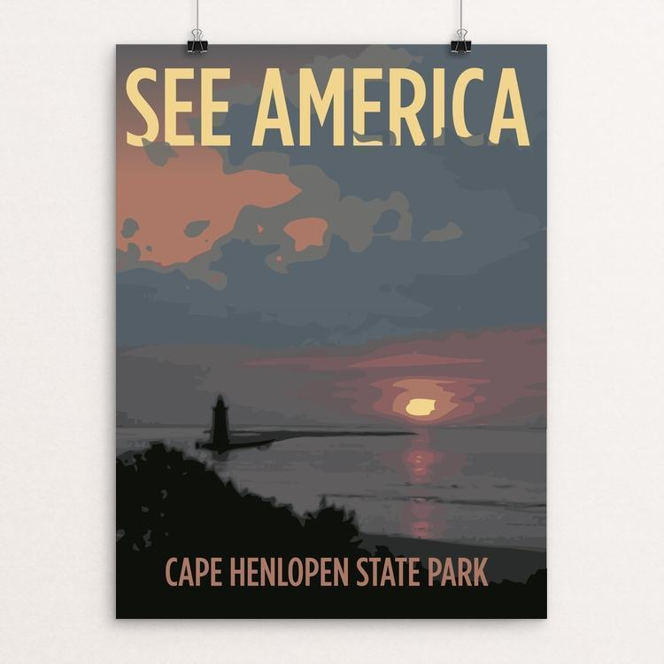 "Cape Henlopen State Park by Alden Leonard 12"" by 16"" Print / Unframed Print See America"