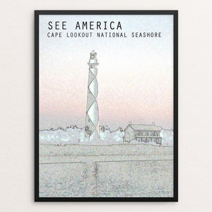 "Cape Lookout National Seashore by Zachary Bolick 12"" by 16"" Print / Framed Print See America"