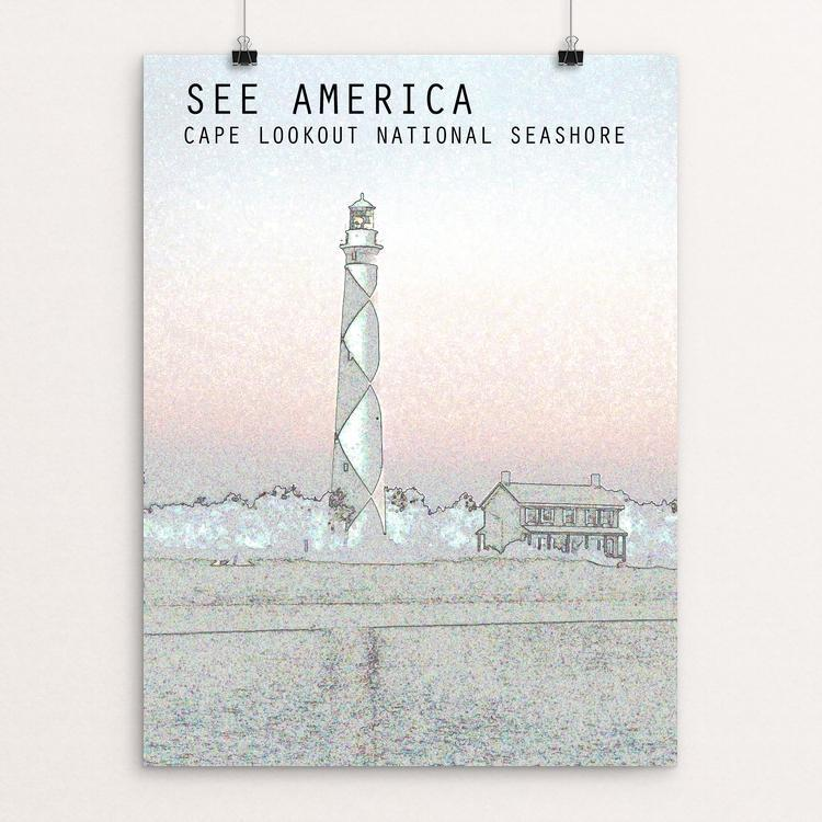 "Cape Lookout National Seashore by Zachary Bolick 12"" by 16"" Print / Unframed Print See America"