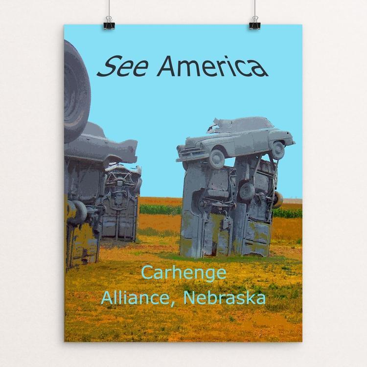 "Carhenge by Rodney Buxton 12"" by 16"" Print / Unframed Print See America"