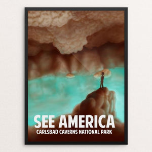 "Carlsbad Caverns by Rene Trujillo 18"" by 24"" Print / Framed Print See America"