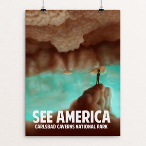 "Carlsbad Caverns by Rene Trujillo 18"" by 24"" Print / Unframed Print See America"
