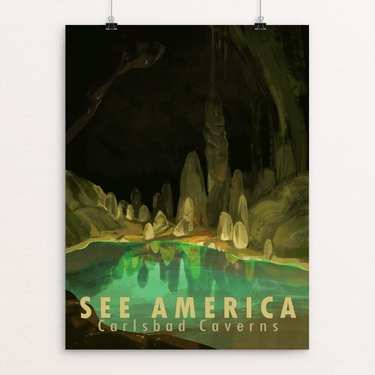 "Carlsbad Caverns National Park by Alyssa Winans 12"" by 16"" Print / Unframed Print See America"