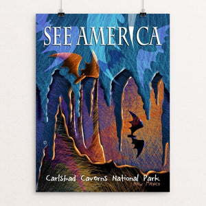 "Carlsbad Caverns National Park by Elena Ospina 12"" by 16"" Print / Unframed Print See America"