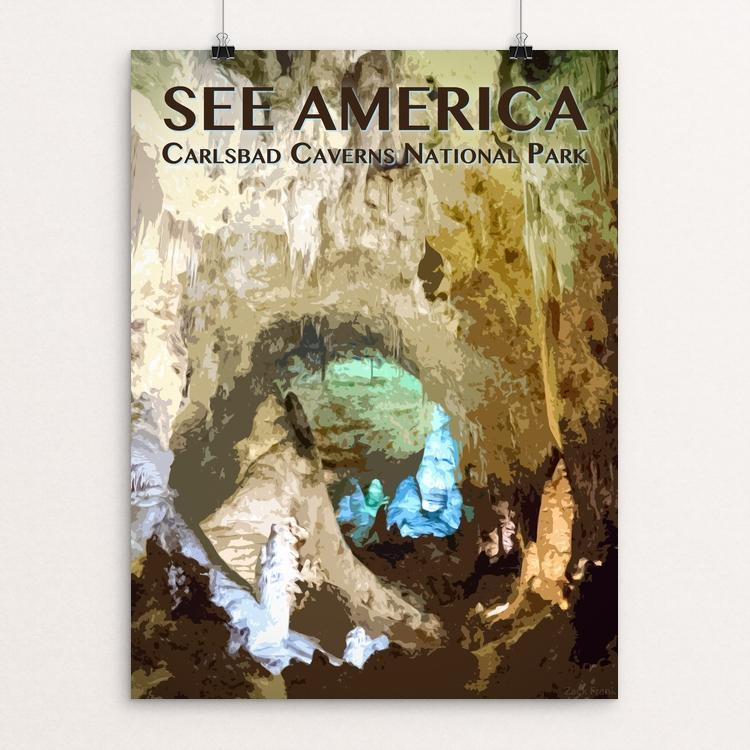"Carlsbad Caverns National Park by Zack Frank 12"" by 16"" Print / Unframed Print See America"