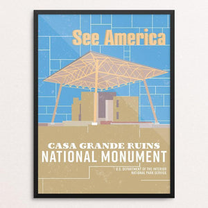 "Casa Grande Ruins National Monument by Dominic Heidt 12"" by 16"" Print / Framed Print See America"