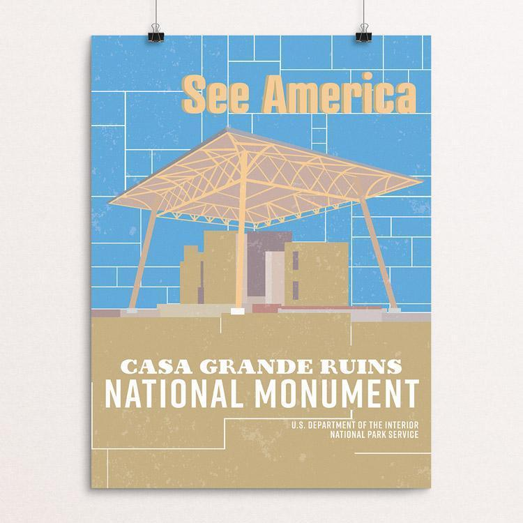 "Casa Grande Ruins National Monument by Dominic Heidt 12"" by 16"" Print / Unframed Print See America"