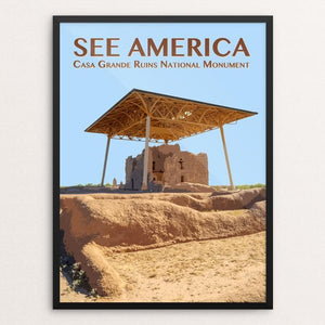"Casa Grande Ruins National Monument by Zack Frank 12"" by 16"" Print / Framed Print See America"